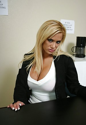 Boobs in Office Porn Pics